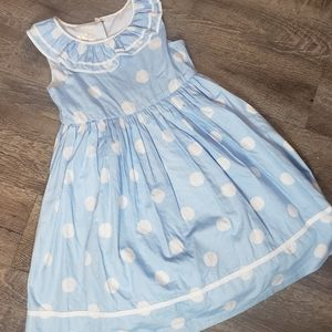 Laura Ashley London Blue with White Polka Dots